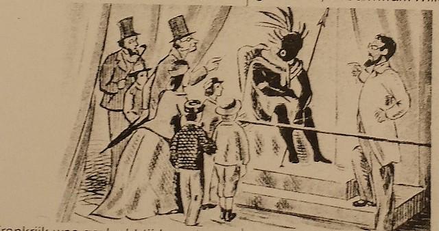 (Tekening uit: De bonte droom van het circus uit ca. 1958 (schrijvers: J. van Doveren en Fred. Thomas)