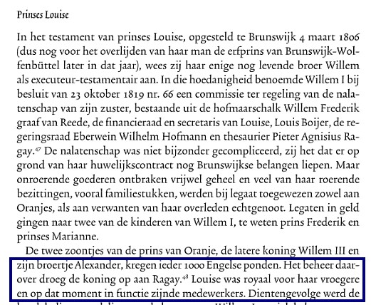 nalatenschap Prinses Louise