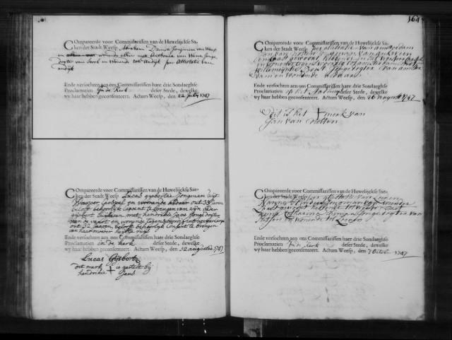 1747 07 27 Huwelijk D'Arrest
