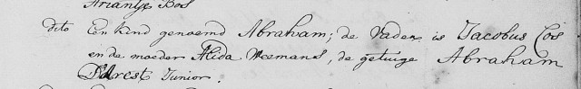 25 december 1767 Doop Abraham Cos