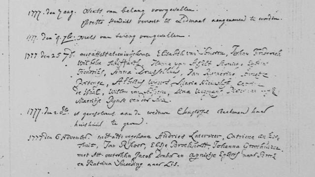 1777 Kerkenraadarchief