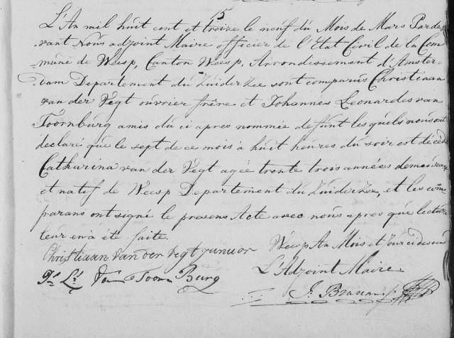 1813 7 maart Catharina jr