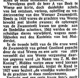 Over de Zwanendrift Weesp