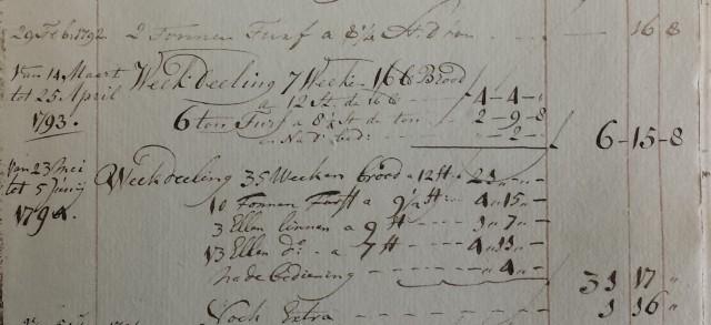 1793 Bedeling Christiaan
