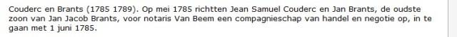 Archief van de Familie Brants en Aanverwante Families (Stadsarchief Amsterdam)
