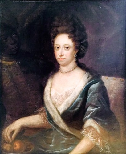 Gravin-Maria-Wilhelmina-Charlotte-von-Wartensleben-1683-1742 en een page door-Rosine-de-Gasc-Lisceweska