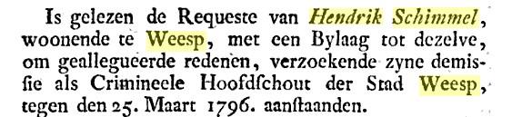 1776 Schout Hendrik Schimmel