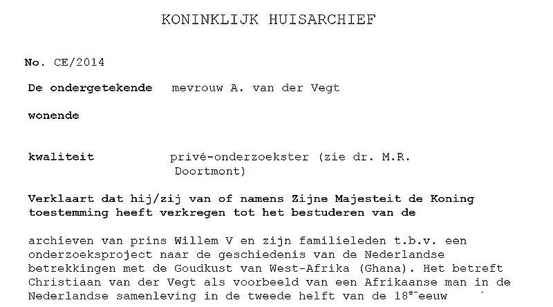 voorbeeld brief aan de koning Het Koninklijk Huisarchief   Hoe heette Christiaan?