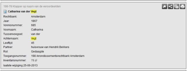 Noord Hollands Archief Catharina van der Vegt 001