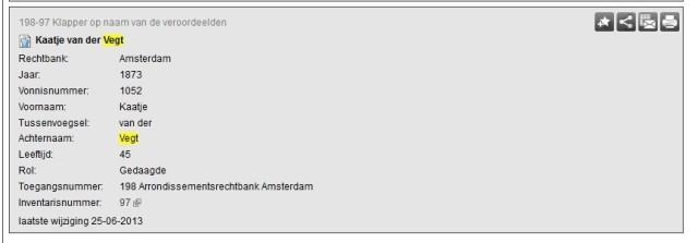 Noord Hollands Archief Kaatje van der Vegt