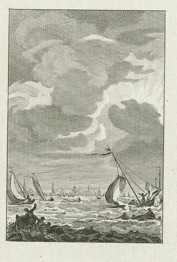 Storm op het IJ 1788 Reinier Vinkeles Cornelis Bogerts Jacobus Buys