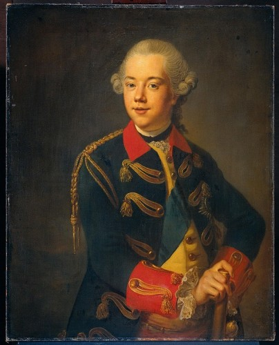 Willem V door Johann Georg Ziesenis in 1776