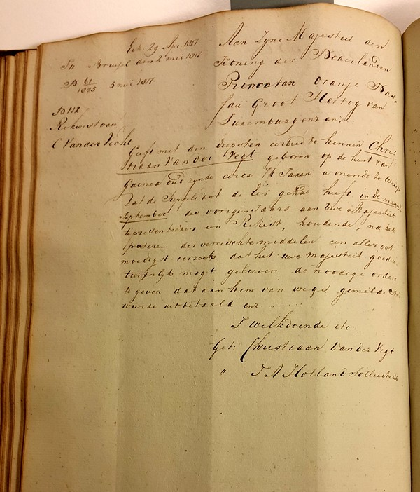 1817 04 29 Brievenboek Burgemeester Weesp 01