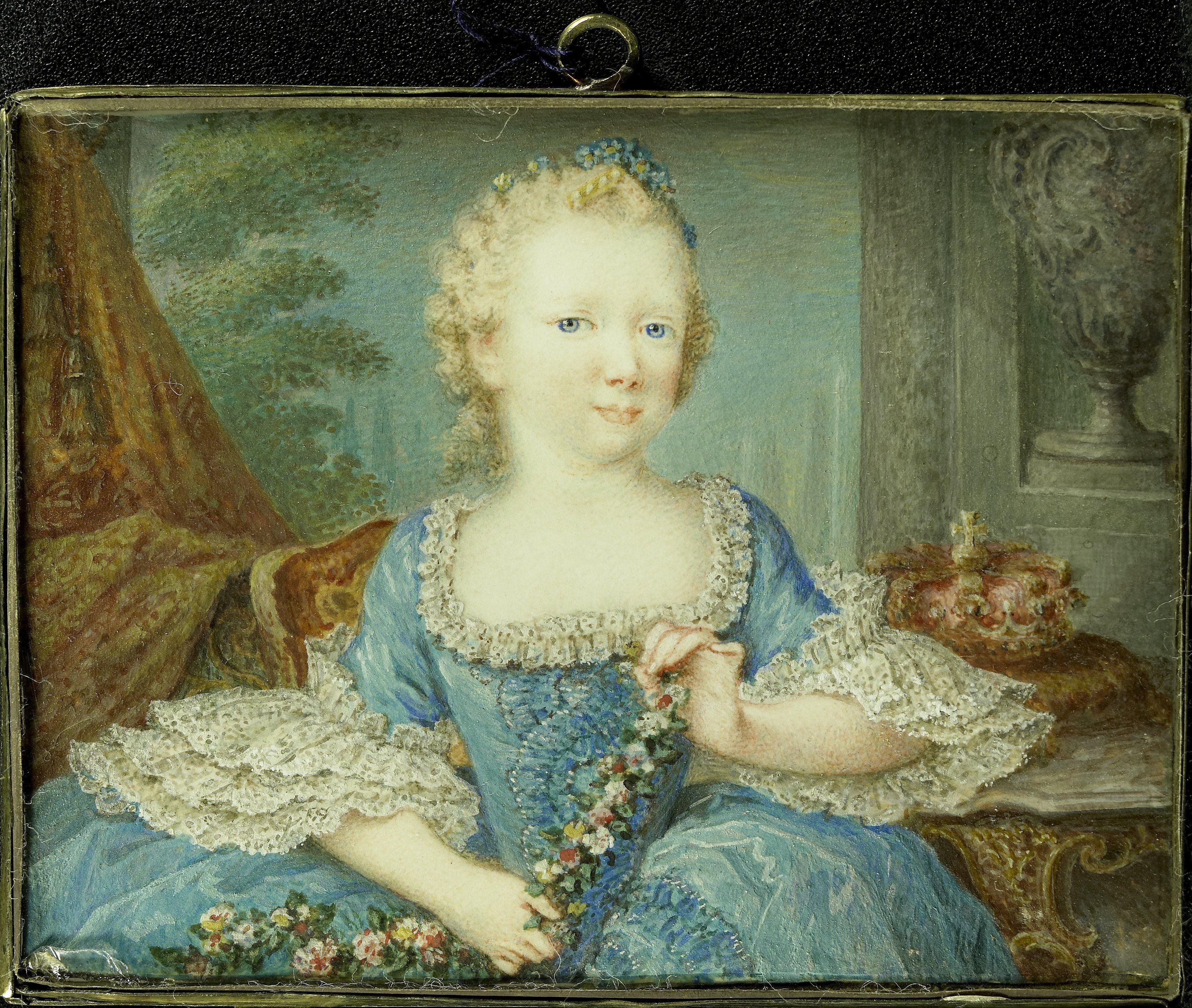 Prinses Caroline van Oranje Nassau als kind door Robert Mussard
