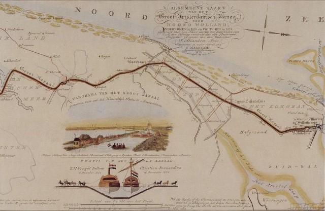 Algemeene Kaart van het Groot Amsterdamsch Kanaal door Noord-Holland - anoniem 1825