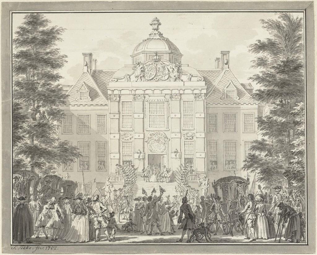 1752 Willem V toont zich Huis Den Bosch Simon Fokke 01
