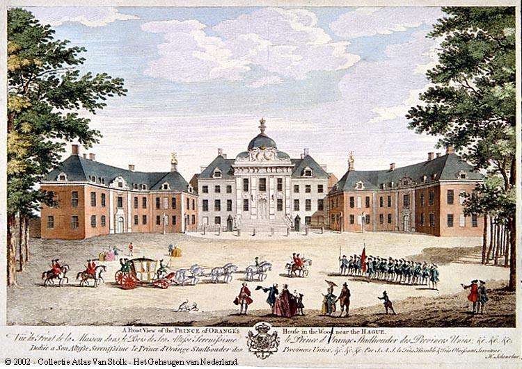 Gezicht op Huis ten Bosch te Den Haag 1788
