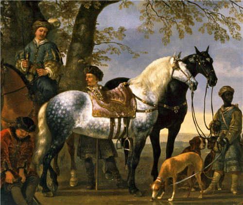 Huntsmen Halted by Aelbert Cuyp 1650s