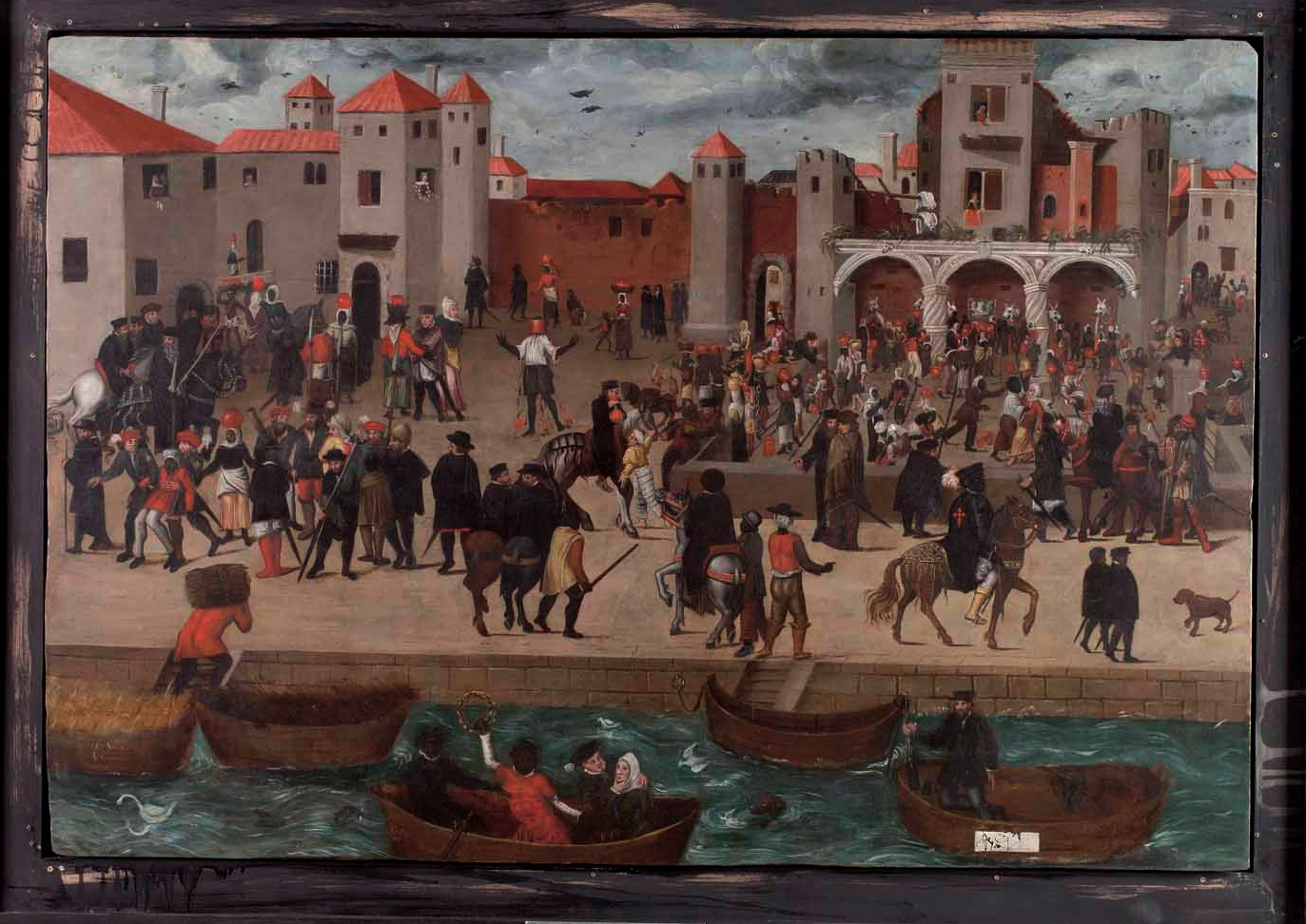Netherlandish, Chafariz d'el Rey in the Alfama District (View of a Square with the Kings Fountain in Lisbon), ca. 1570-80