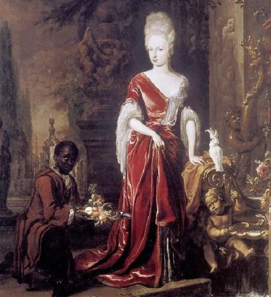 1697 Jan Weenix (1640-1719) Portrait of Élisabeth Charlotte d'Orléans