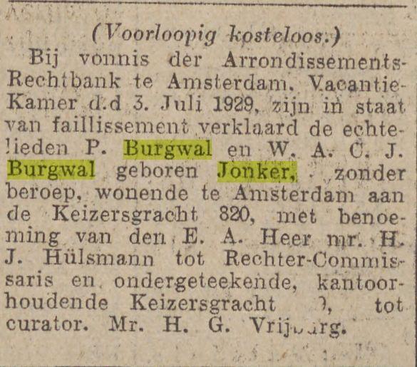 1929 07 06 Jonker Burgwal