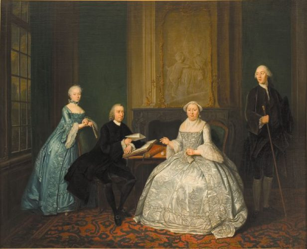Tibout Regters, Johannes Westrik and his family, 1762, Coll Amsterdams Historisch Museum