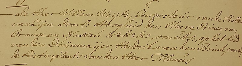 1761 verzoek jacht Willem Weijtz