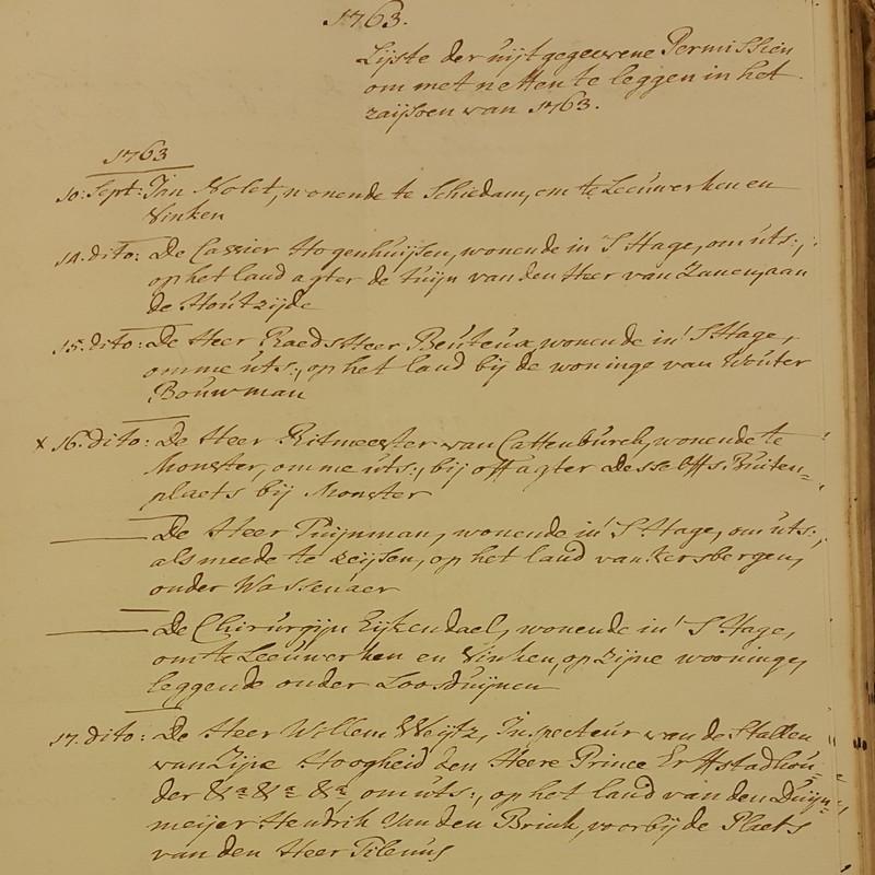 1763 netten leggen